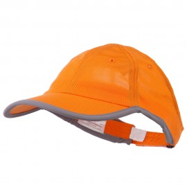 Athletic Mesh Ponytail Cap - Orange