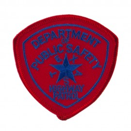 Mid State Police Embroidered Patches - TX Hwy
