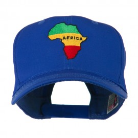Map of Africa Embroidered Cap