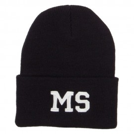 MS Mississippi State Embroidered Long Beanie