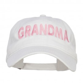 Grandma Embroidered Washed Cap