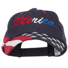 Merica Embroidered USA Twill Cap