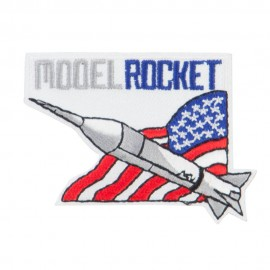 Model Rocket Flag Patch