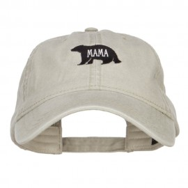 Mama Bear Embroidered Washed Cap