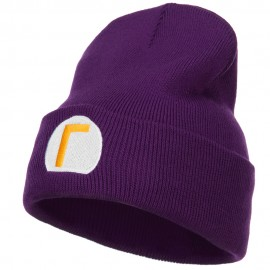 Mario Luigi Wario Waluigi Embroidered Long Beanie - Purple