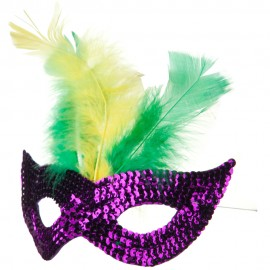 Mardi Gras Sequin Mask