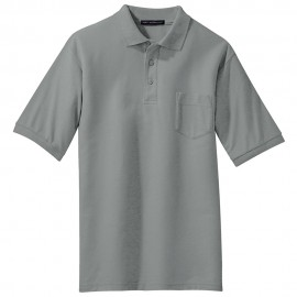 Men's Big Size Port Authority Silk Touch Pocket Polo T-Shirt