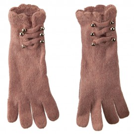 Women's Military Straps and Ruffle Cuff Glove
