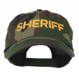Sheriff Military Embroidered Camo Cap - Camo