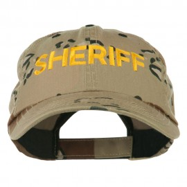Sheriff Military Embroidered Camo Cap - Desert
