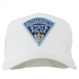 Massachusetts State Police Patch Cap - White