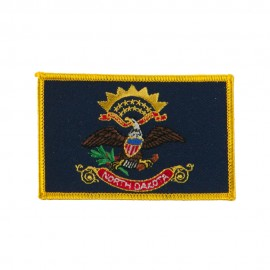 Middle State Embroidered Patches - North Dakota