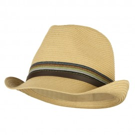 Men's Multi Colored Braid Fedora