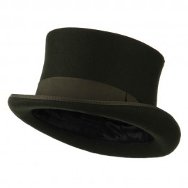 Men's 12 Centimeter Tall Crown Felt Top Hat