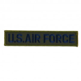 Military Related Text Embroidered Patch - AF