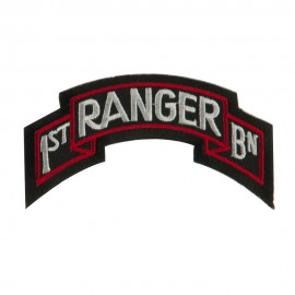 Military Related Text Embroidered Patch - Ranger 1st
