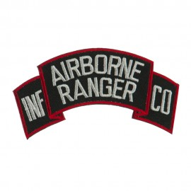 Military Related Text Embroidered Patch - AB Ranger
