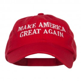 Make America Great Again Embroidered Low Cap - Red