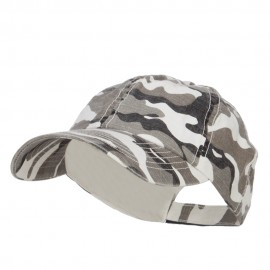 Faded Camo Washed Cotton Cap - City Camo