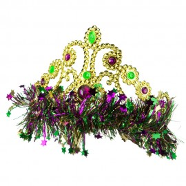 Mardi Gras Crown Headband - Green Yellow Purple