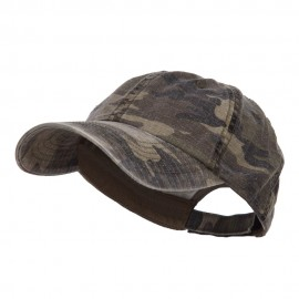 Faded Camo Washed Cotton Cap - Camo