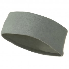 Moisture Wicking Fleece Head Band - Light Grey