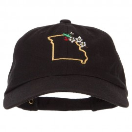 Missouri Hawthorn with Map Embroidered Unstructured Washed Cap