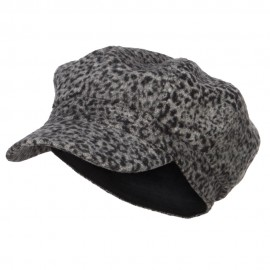 Women's Animal Print Newsboy Cap
