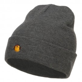 Mini Monkey Embroidered Long Beanie