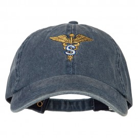 Army Medical Specialist Embroidered Big Size Washed Cap - Navy