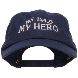 My Dad My Hero Embroidered Unstructured Cotton Cap