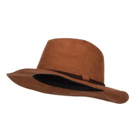 Poly Suede Panama Fedora