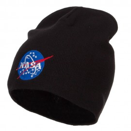 NASA Insignia Embroidered Big Cotton Beanie