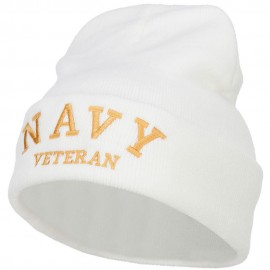 Navy Veteran Letters Embroidered Long Beanie