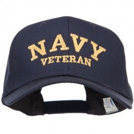 Navy Veteran Letters Embroidered Cotton Cap