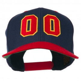 Athletic Number 00 Embroidered Classic Two Tone Cap
