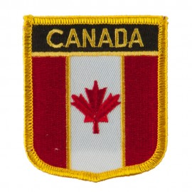 North and South America Flag Embroidered Patch Shield - Canada