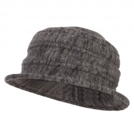 Women's Striped Boiled Wool Bucket Hat