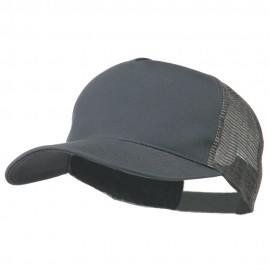 New Big Size Trucker Mesh Cap - Grey