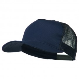 New Big Size Trucker Mesh Cap - Navy