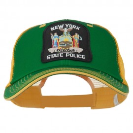 NY State Police Patched Big Size Washed Mesh Cap