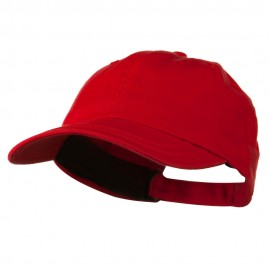 Low Profile Normal Dyed Cotton Twill Cap - Red