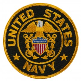 US Navy Circular Large Patch - Yellow Navy