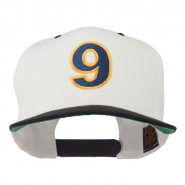 Arial Number 9 Embroidered Classic Two Tone Cap