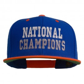 National Champions Embroidered Snapback Cap