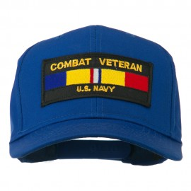US Navy Combat Veteran Patched Cap