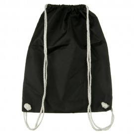 Nylon Drawstring Solid Color Backpack