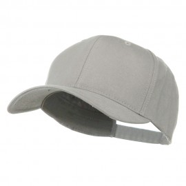 New Big Size Deluxe Cotton Cap - Cool Grey