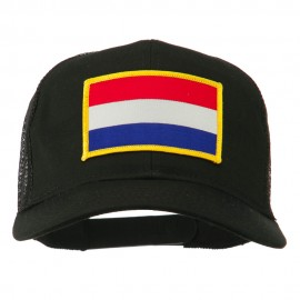 Netherlands Flag Patched Mesh Cap - Black