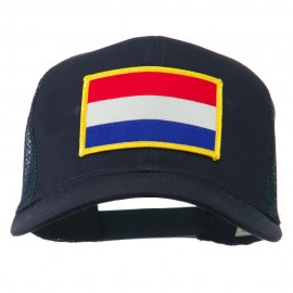 Netherlands Flag Patched Mesh Cap - Navy